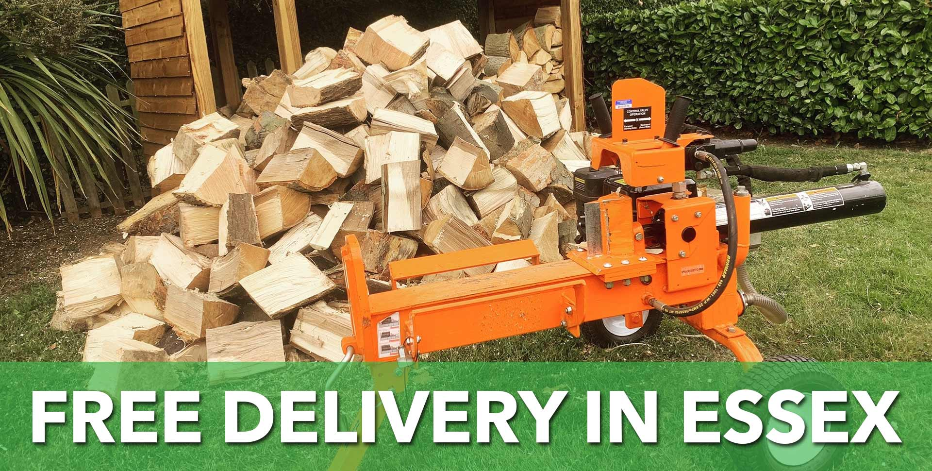 Seasoned log supply and delivery around Essex